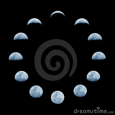 Free Moon Phases Stock Images - 2811124
