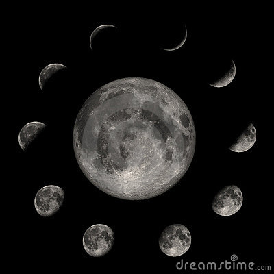 Free Moon Phases Royalty Free Stock Photos - 94668