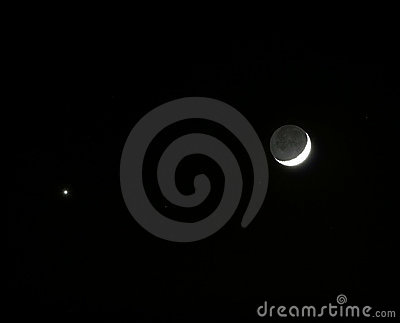 The Moon and planet Venus meets in the sky