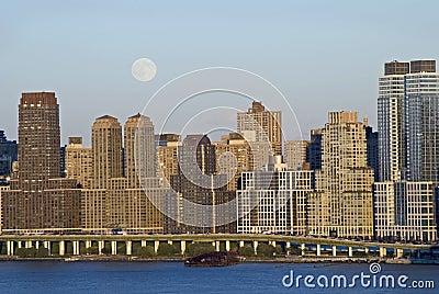 Moon Rise Over Manhattan