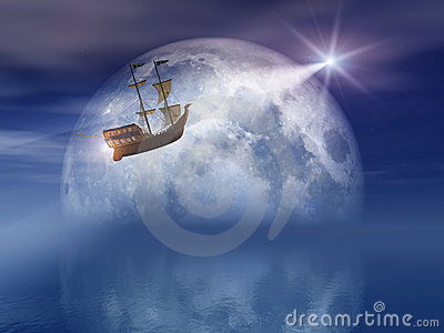 Moon and Star Light Ship