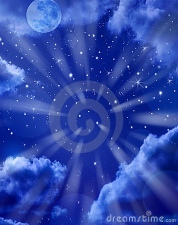 Free Moon Stars Sky Background Royalty Free Stock Photo - 12612795