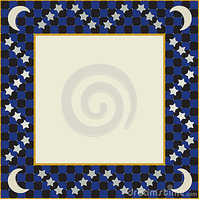 Moon and Stars Square Frame