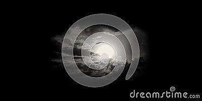 Moon or sun in sky