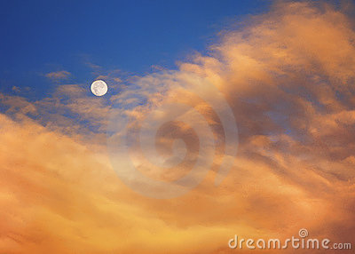 Moon At Sunrise A