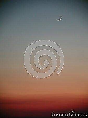 Free Moon Sunset Stock Image - 11111