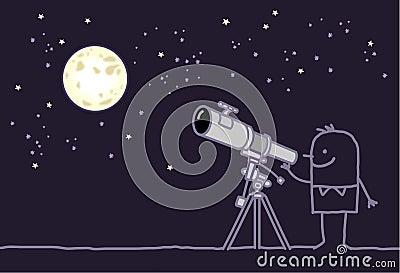 moon & telescope