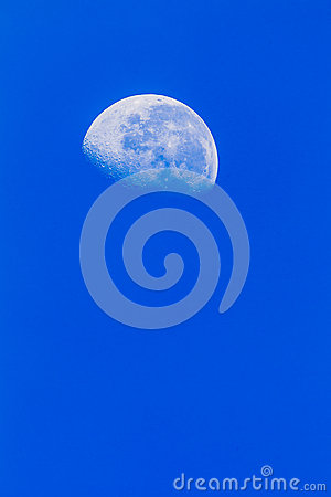 Moon Blue Sky Vertical
