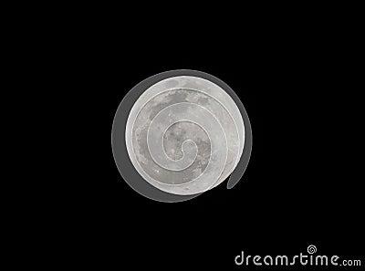 Moon,total lunar eclipse seen from Utila, Honduras