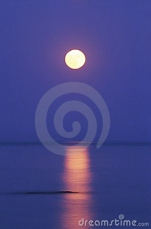 Moon on a water