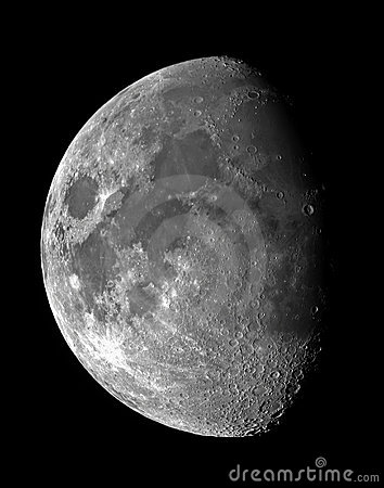 Free Moon Waxing Gibbous Royalty Free Stock Photography - 534687