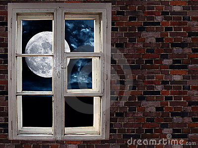 Moon in the window
