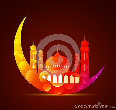 Free Moon With A Mosque In Various Colors Stock Image - 40572251