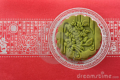 Mooncake on red