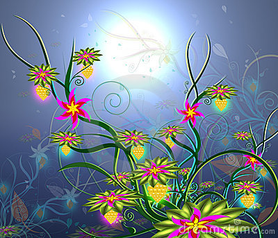 Moonlight Flowers-2