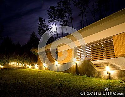 Moonlight at the garden
