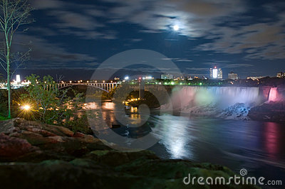 Moonlight on Niagara river