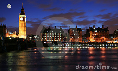 Moonlight over London