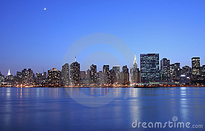 Moonlight over Manhattan