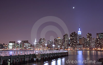 Moonlight over NYC