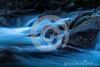 Moonlight River Stock Photo