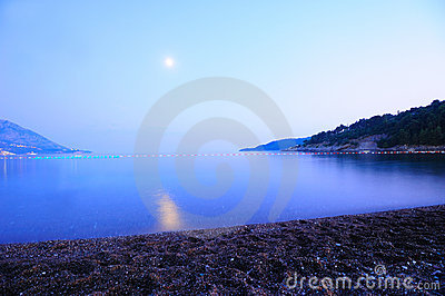 Moonlight seascape
