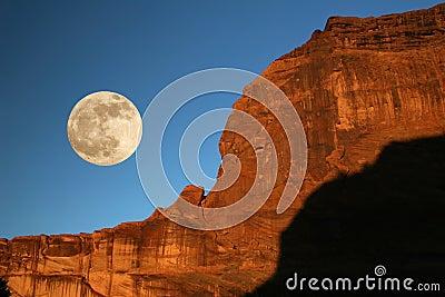 Moonrise - Canyon de Chelly, Arizona