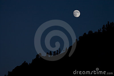 Moonrise in the mountain