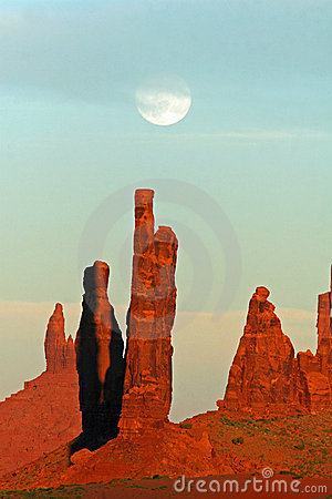 Moonrise over Monument Valley - Arizona