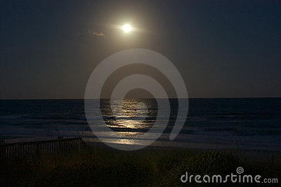 Moonrise over the Ocean