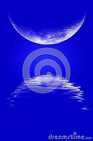 Moonrise Reflection