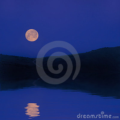 Moonrise Reflection