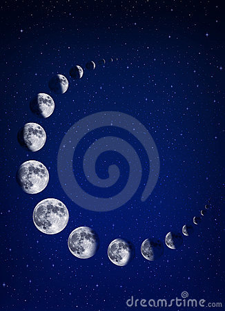 Moons and stars background