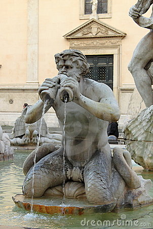 Moor fountain in Navona Square
