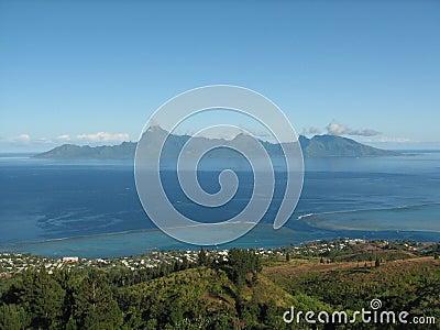 Moorea island from Tahiti