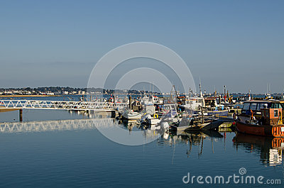 Moored boats, Poole Harbour