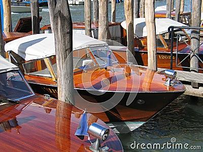 Moored boats, Venice, Italy
