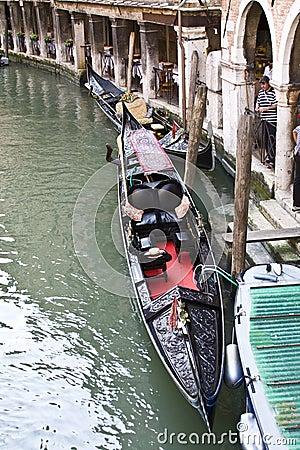 Moored Gondola Editorial Stock Image
