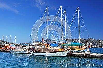Moored yachts, near Kekova island