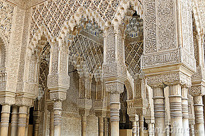 Moorish art and architecture inside the Alhambra