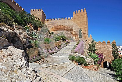 Moorish castle, Almeria, Andalusia, Spain.