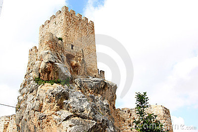 The Moorish Castle of Andalusian town Zuheros