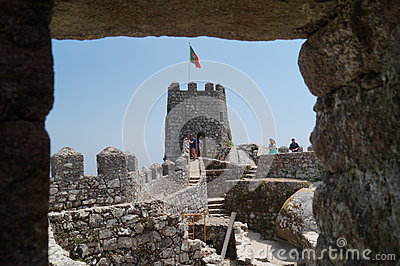 Moorish Castle, Sintra seen through window