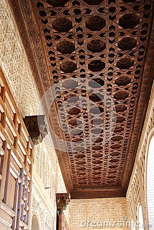 Moorish ceiling, Alhambra Palace, Granada.