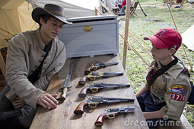 Moorpark Civil War Reenactment Editorial Stock Photo