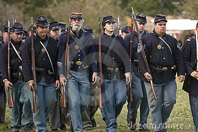 Moorpark Civil War Reenactment Editorial Photo