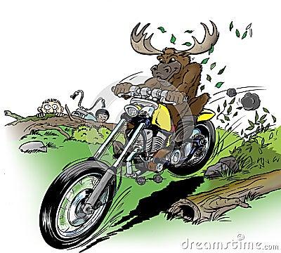 Moose-biker