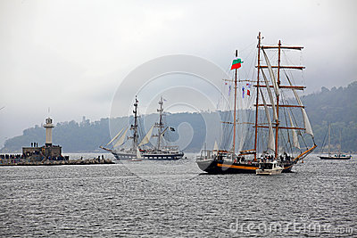 Port Varna during the Historical seas Tall Ships
