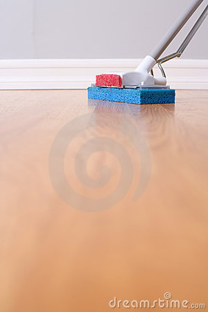 Mopping hardwood floor