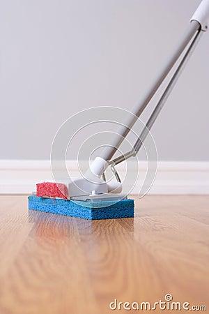 Mopping hardwood floor